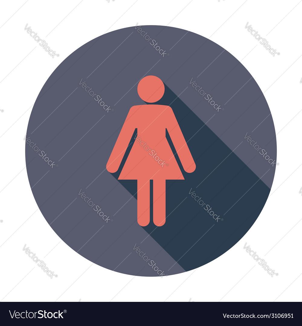 Female gender sign vector | Price: 1 Credit (USD $1)
