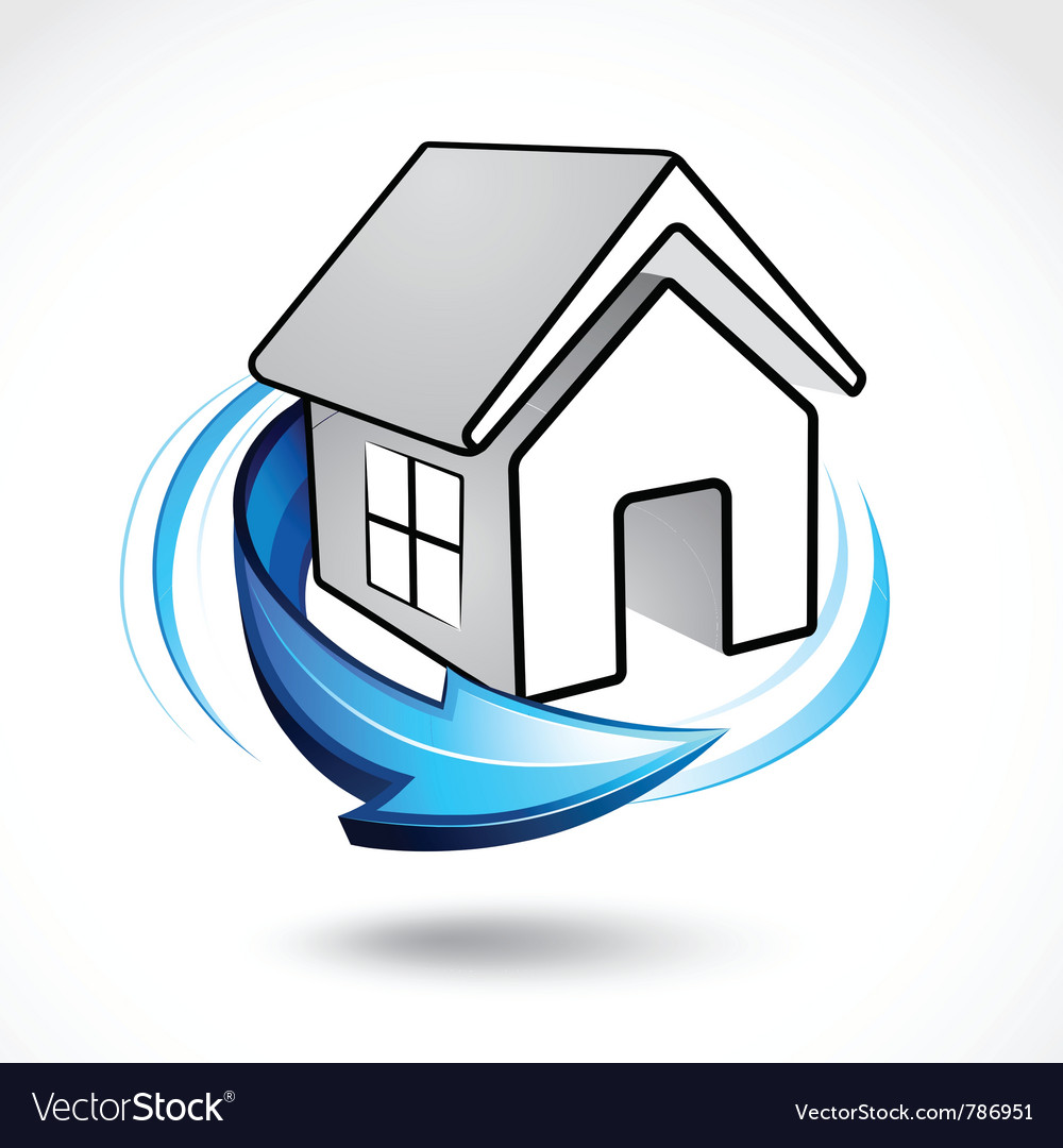 House icon with arrow vector   Price: 3 Credit (USD $3)