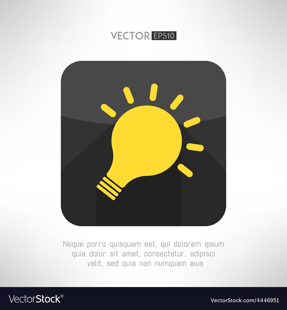 Light bulb icon in modern flat design creativity vector | Price: 1 Credit (USD $1)