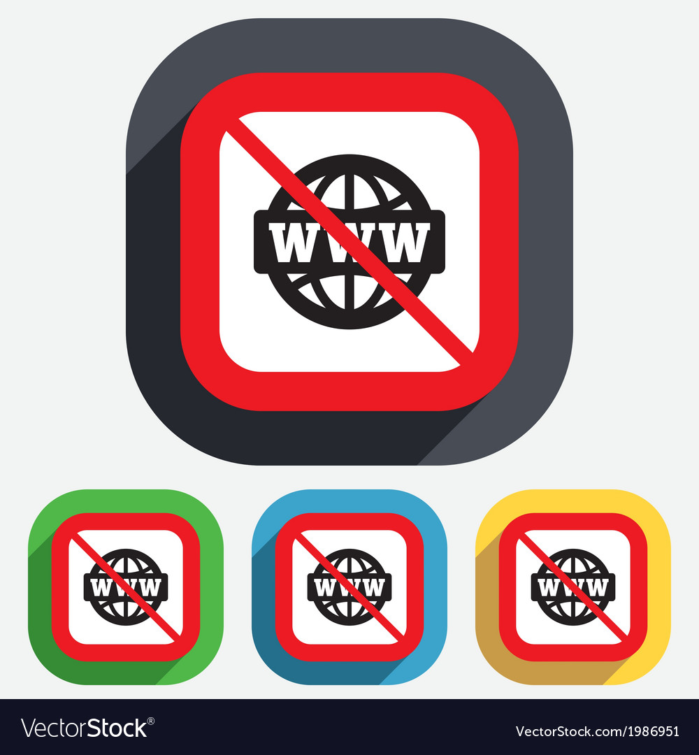 No internet www sign icon world wide web vector | Price: 1 Credit (USD $1)