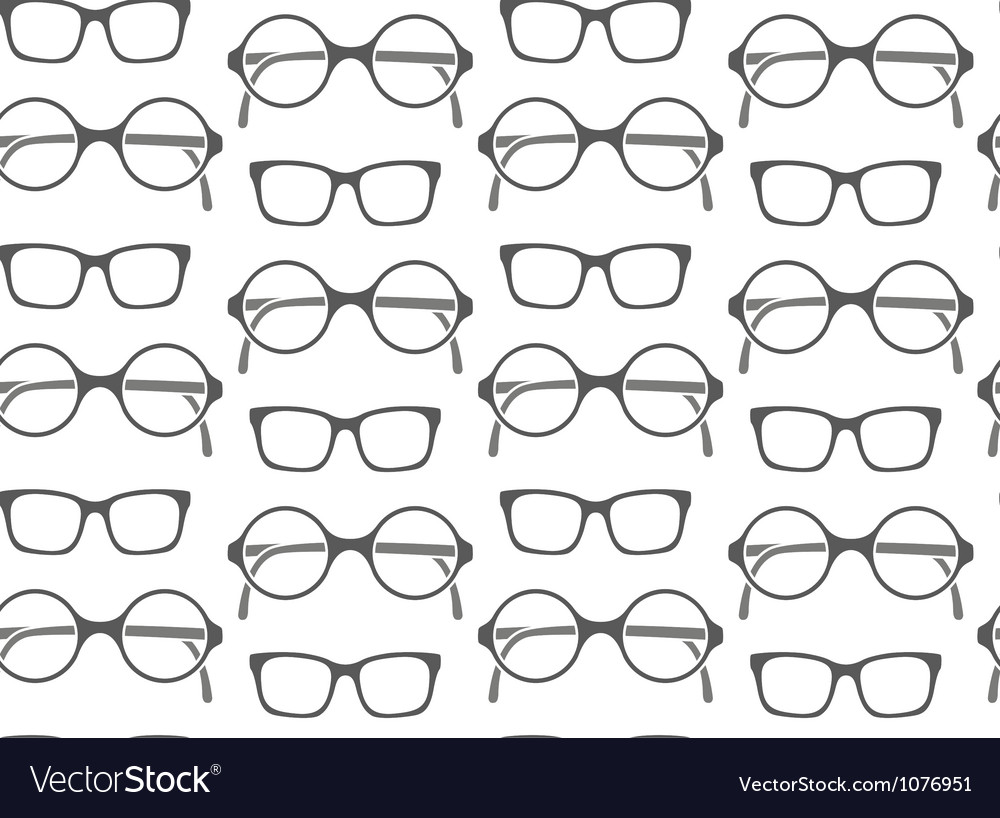 Set of fashionable glasses silhouettes vector | Price: 1 Credit (USD $1)