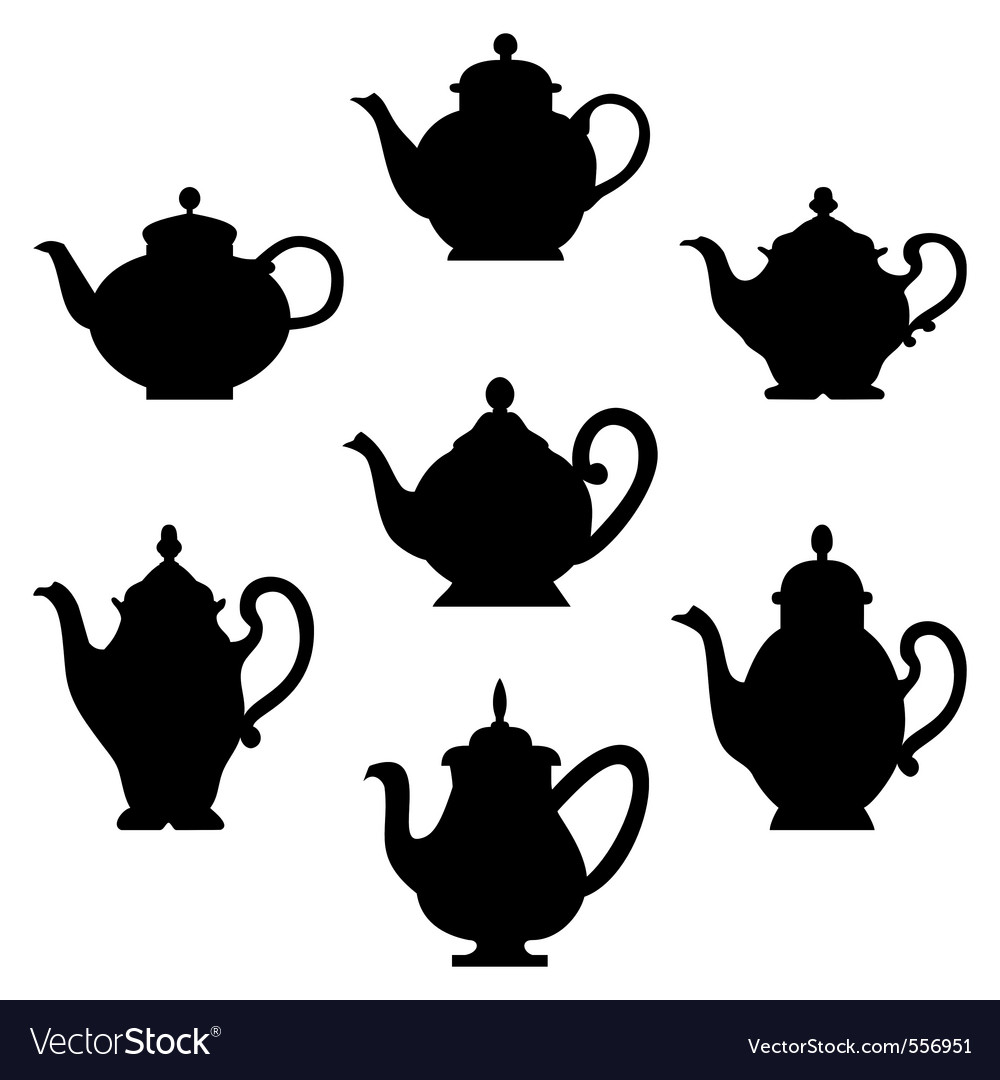 Teapots vector | Price: 1 Credit (USD $1)