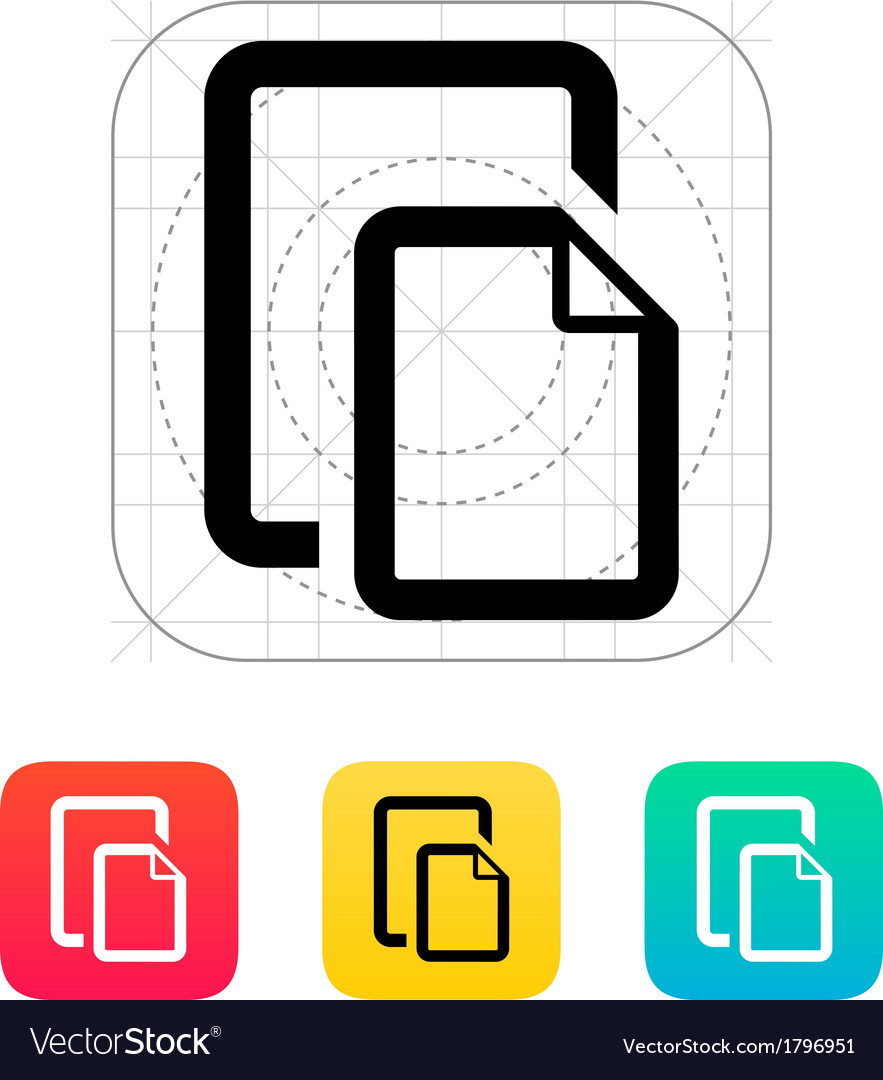 Two files icon vector | Price: 1 Credit (USD $1)