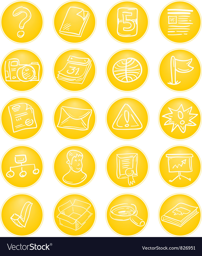 Yellow cms icons vector | Price: 1 Credit (USD $1)