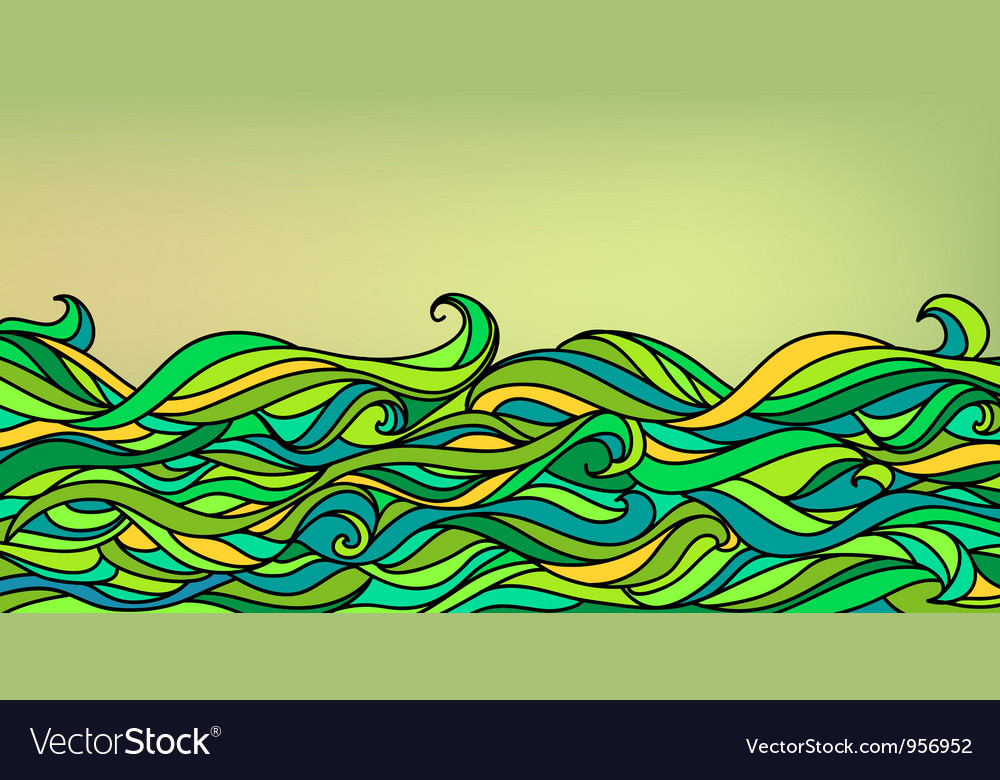 Abstract waves background vector | Price: 1 Credit (USD $1)