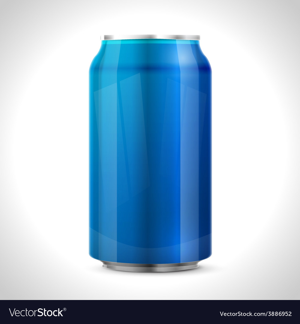 Blue aluminum can vector | Price: 1 Credit (USD $1)