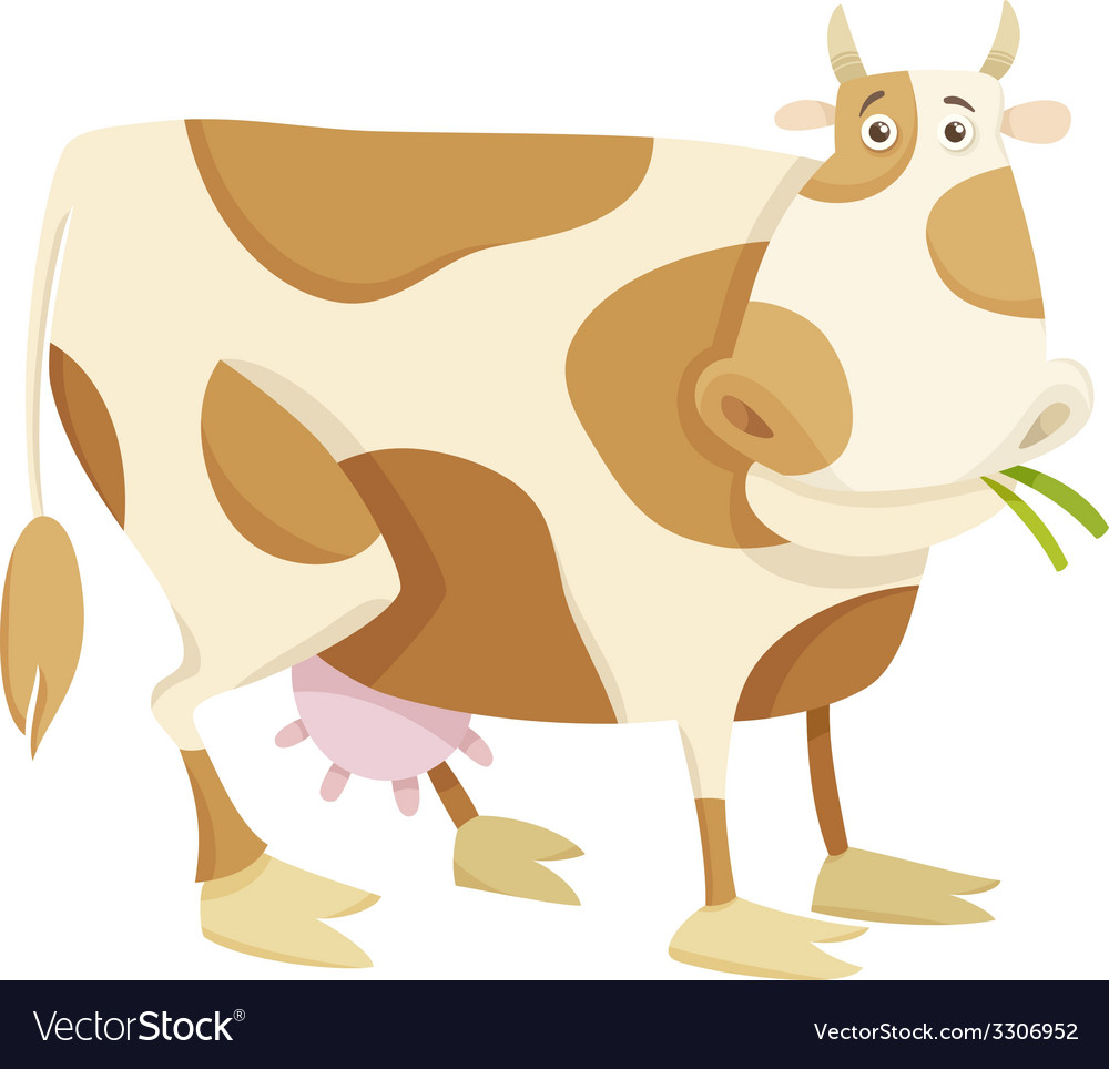 Cow farm animal cartoon vector | Price: 1 Credit (USD $1)