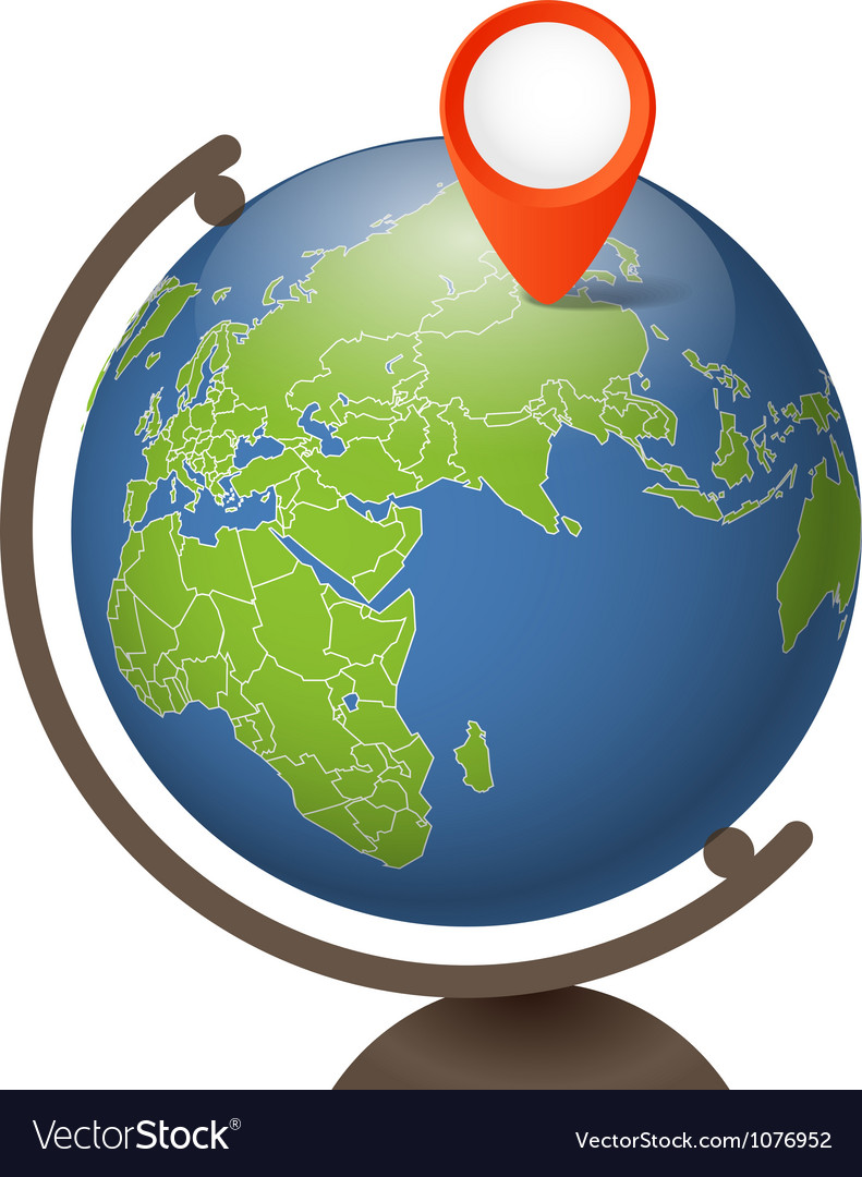 Earth globe on a support vector | Price: 1 Credit (USD $1)