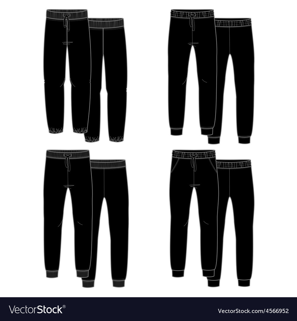 Girls trousers black vector | Price: 1 Credit (USD $1)