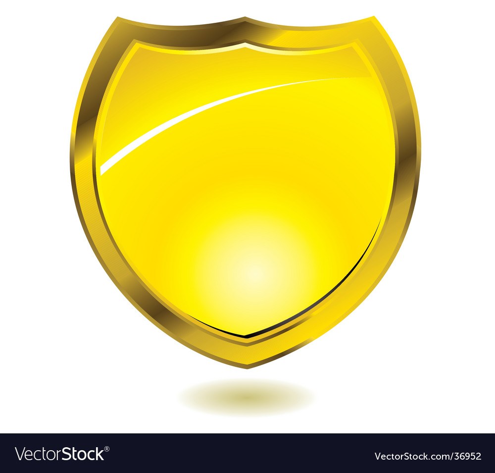 Gold shield vector | Price: 1 Credit (USD $1)