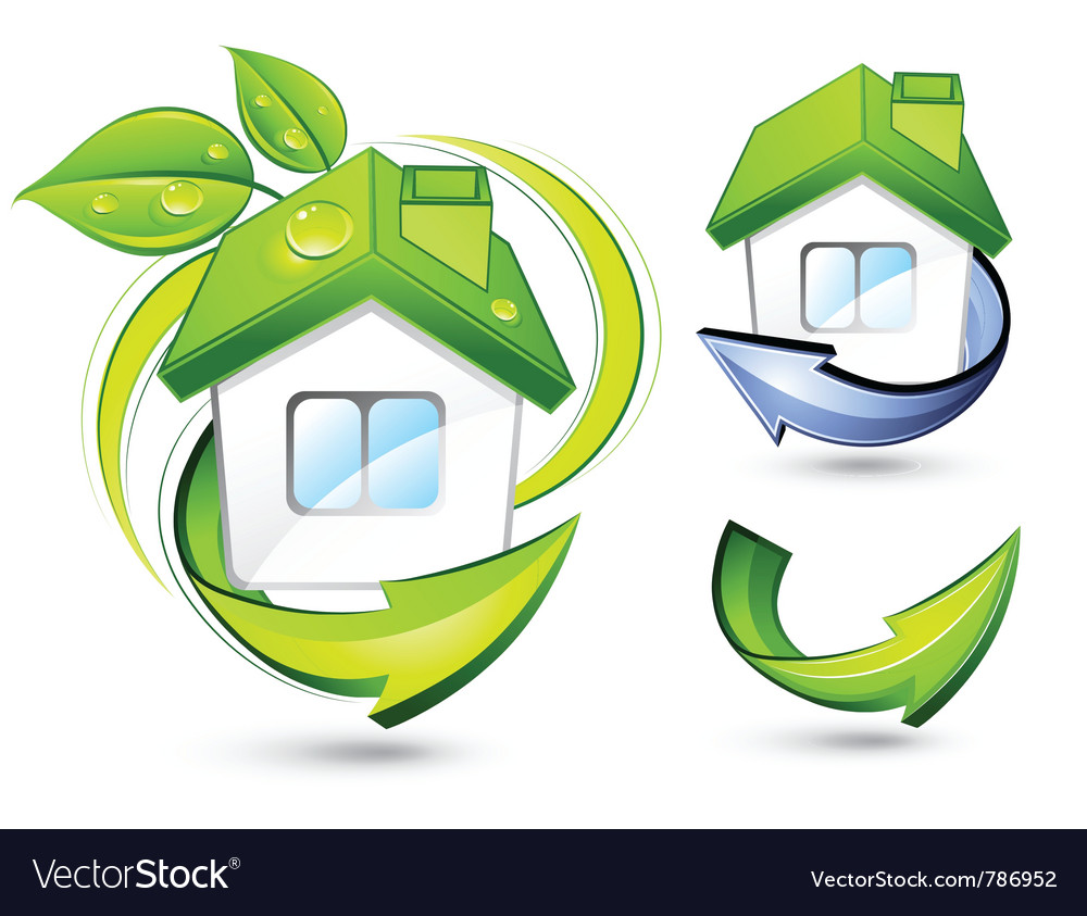 Green homes vector