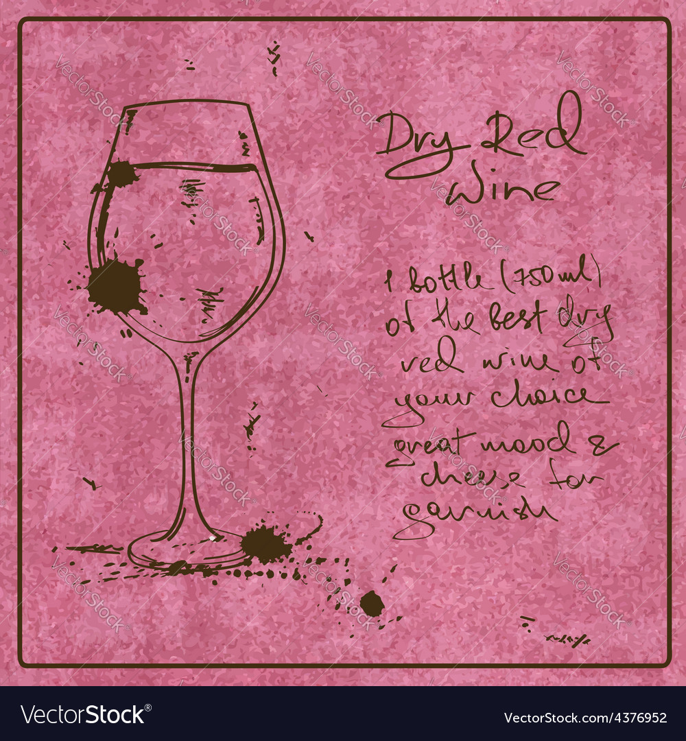 Hand drawn red wine vector | Price: 1 Credit (USD $1)