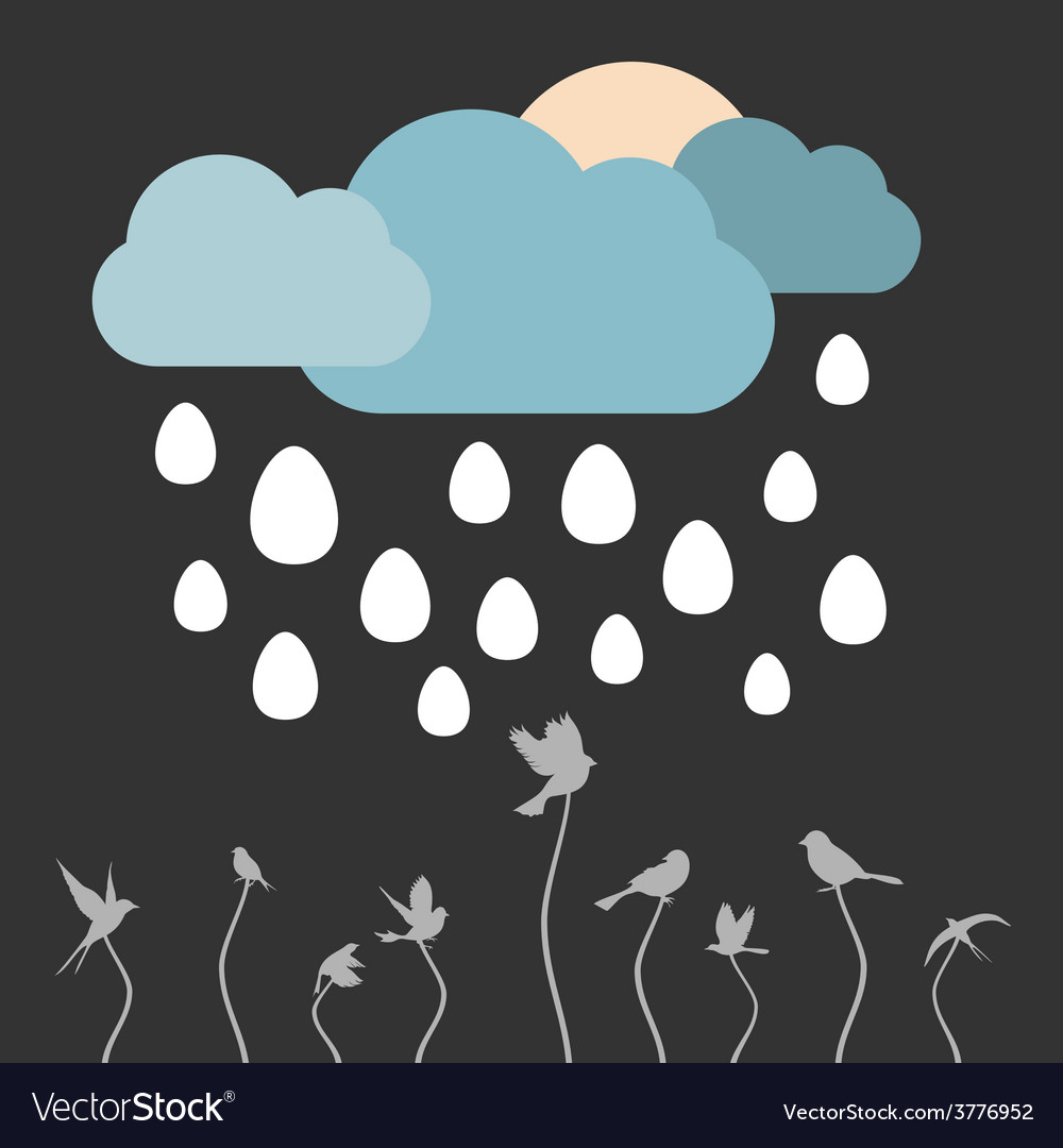 Rain eggs vector | Price: 1 Credit (USD $1)