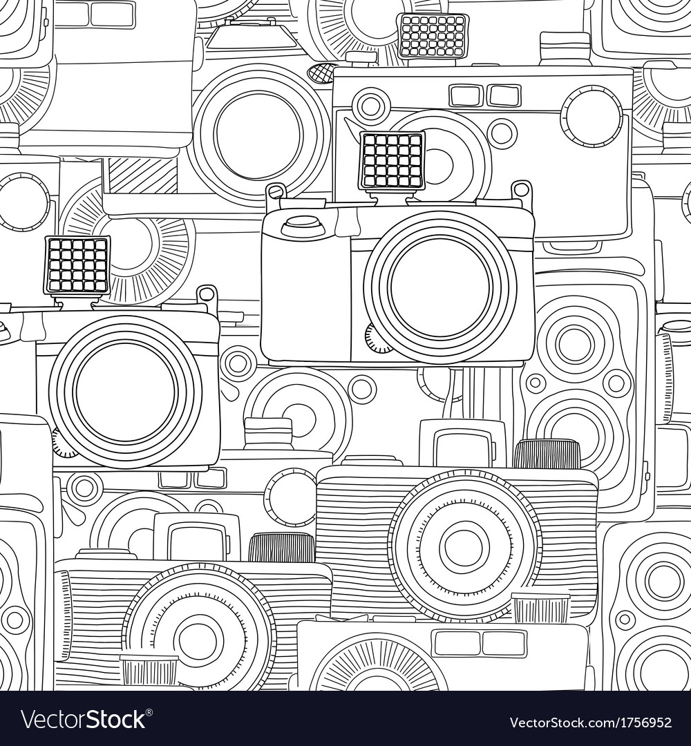 Seamless photography pattern vector | Price: 1 Credit (USD $1)