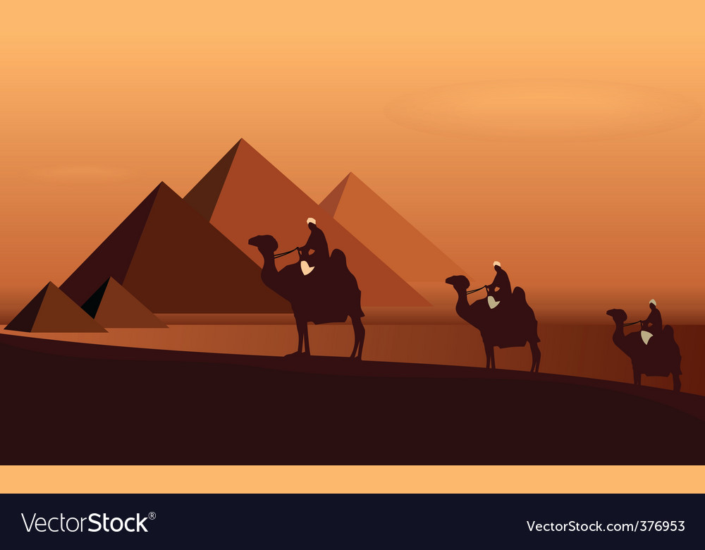 Caravan camels vector | Price: 1 Credit (USD $1)
