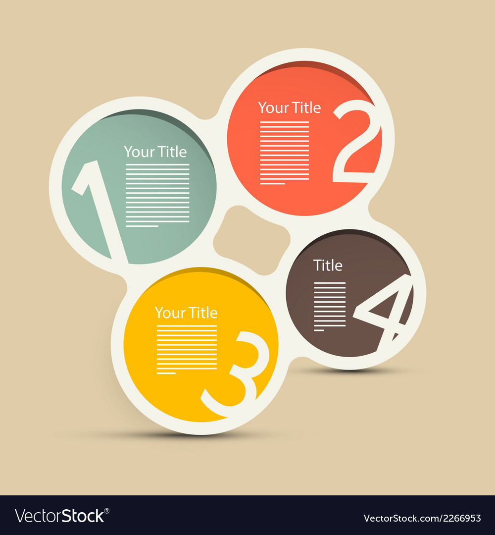 Four steps circle infographic layout vector | Price: 1 Credit (USD $1)