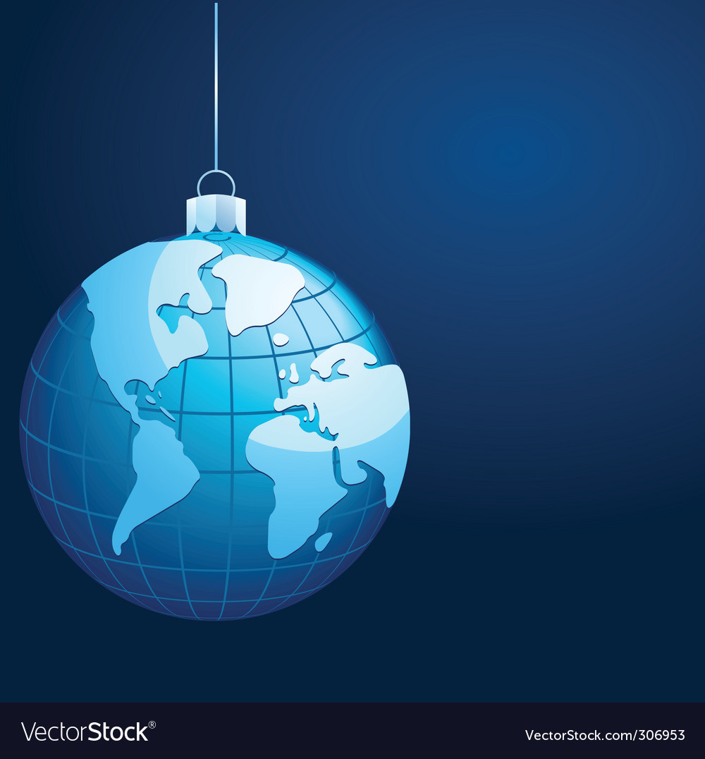 Globe with world map vector | Price: 1 Credit (USD $1)