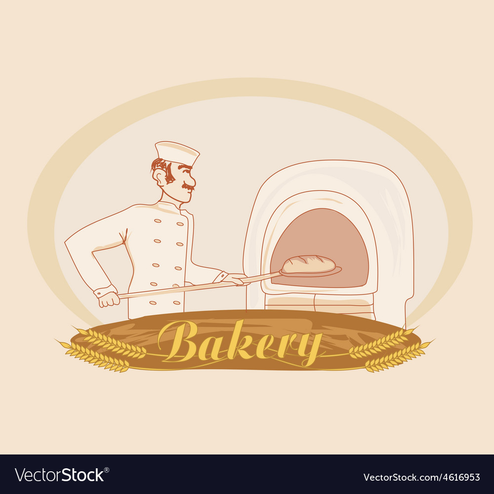 Hand drawn of baker vector | Price: 1 Credit (USD $1)