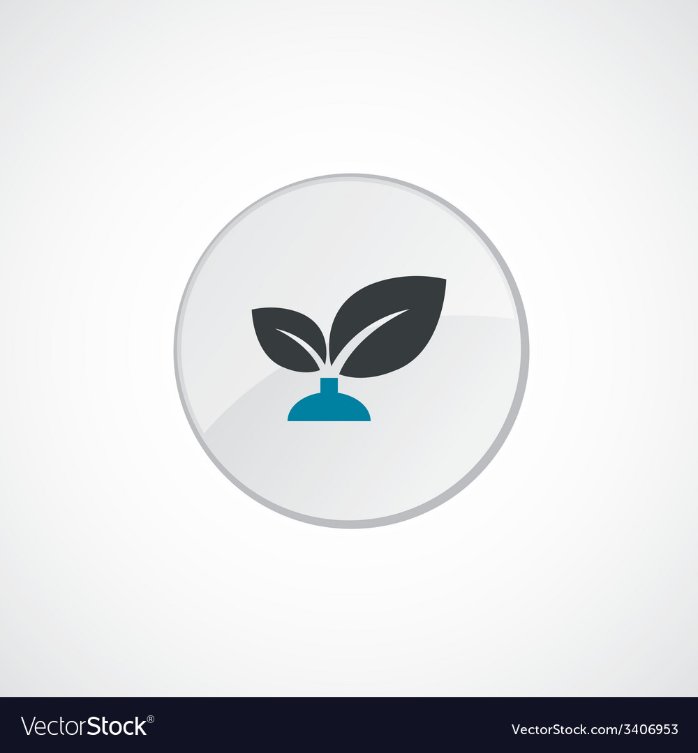 Plant icon 2 colored vector | Price: 1 Credit (USD $1)