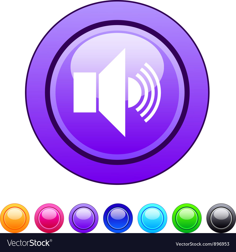 Sound circle button vector | Price: 1 Credit (USD $1)