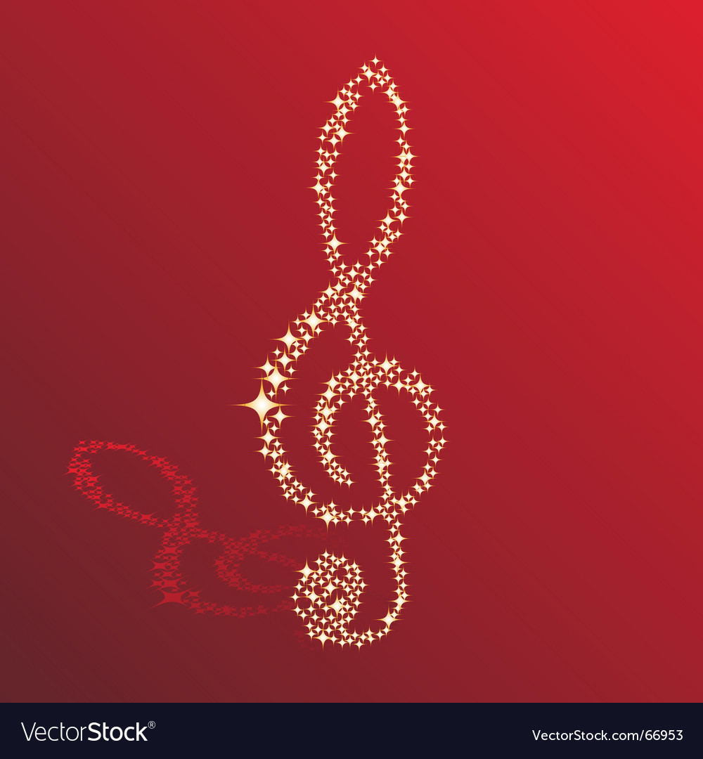 Sparkle clef vector | Price: 1 Credit (USD $1)