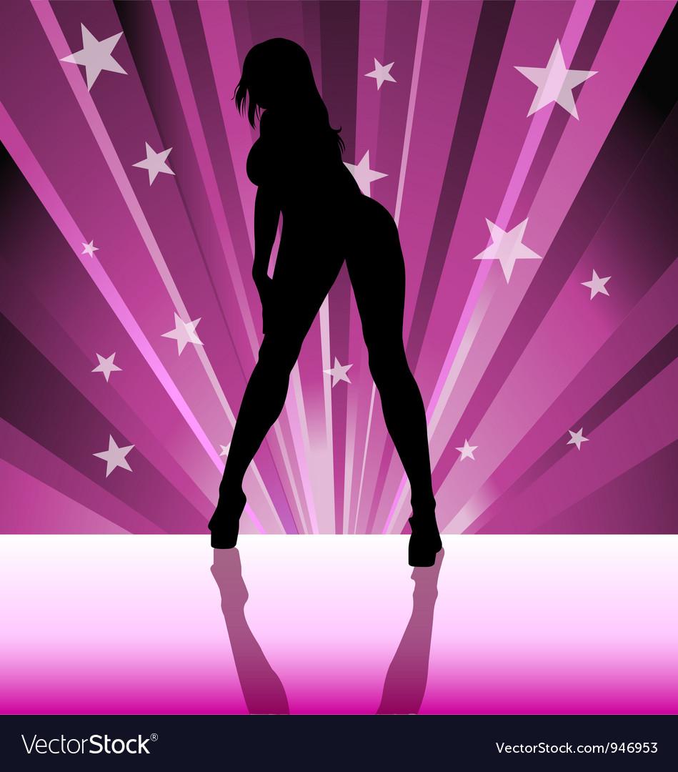 Stripper silhouette vector