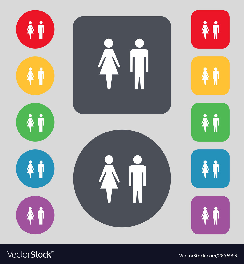 Wc sign icon toilet symbol male and female toilet vector | Price: 1 Credit (USD $1)