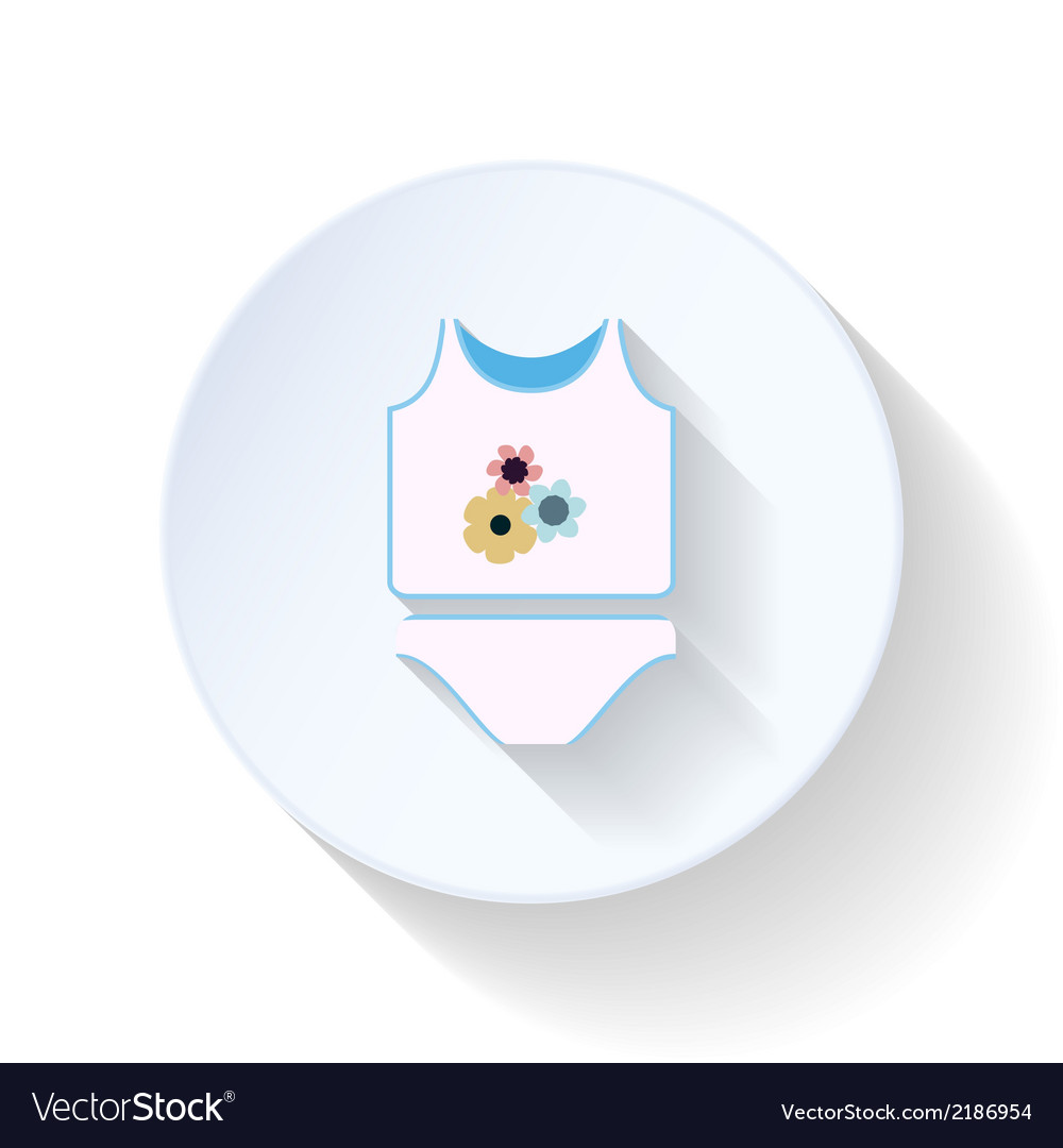 Baby clothes flat icon vector | Price: 1 Credit (USD $1)