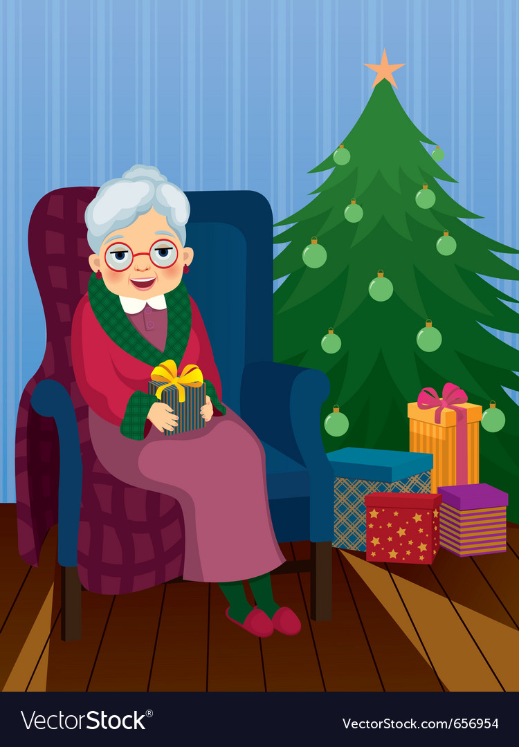 Christmas gift for grandma vector | Price: 1 Credit (USD $1)