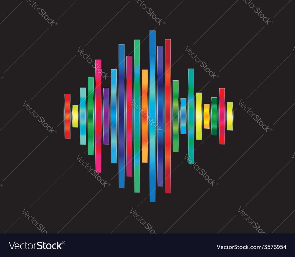 Colorful waveform vector | Price: 1 Credit (USD $1)
