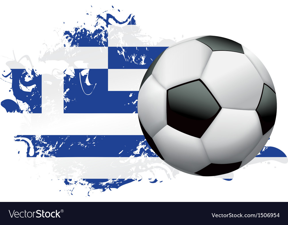 Greece soccer grunge vector | Price: 1 Credit (USD $1)
