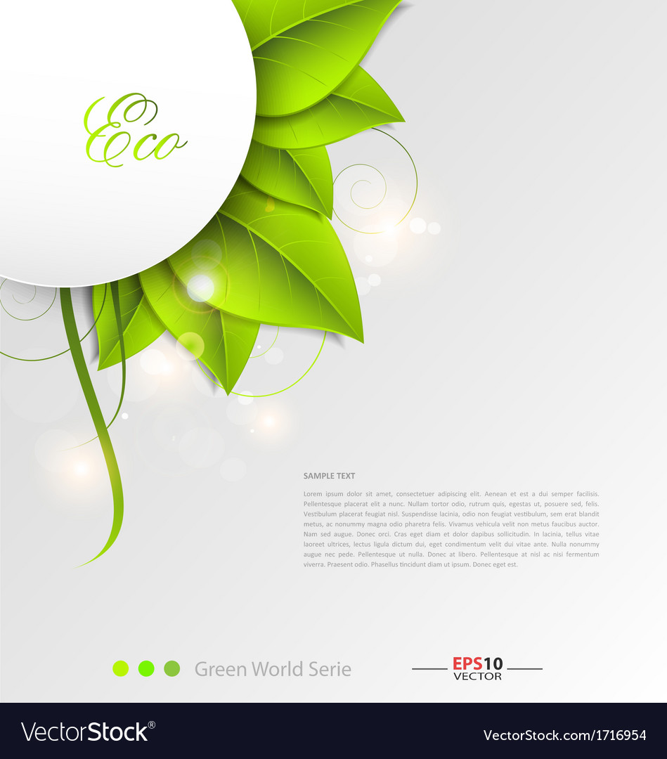 Green leaves ecology background vector | Price: 1 Credit (USD $1)