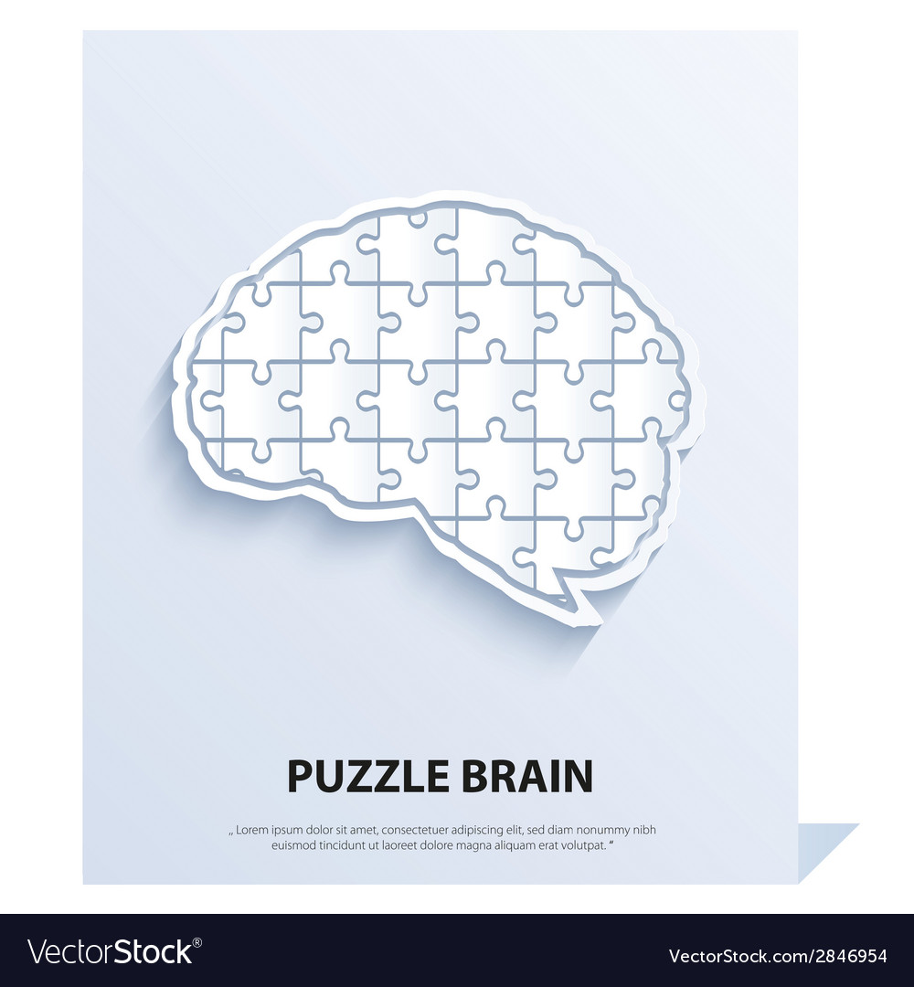 Human brain composed of a puzzle vector | Price: 1 Credit (USD $1)