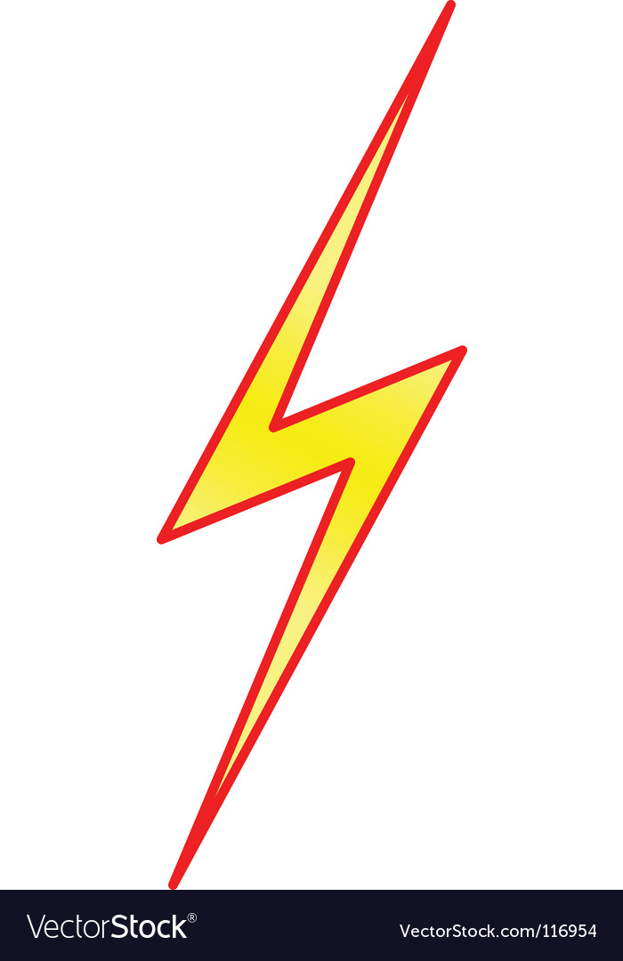 Lightning symbol vector | Price: 1 Credit (USD $1)