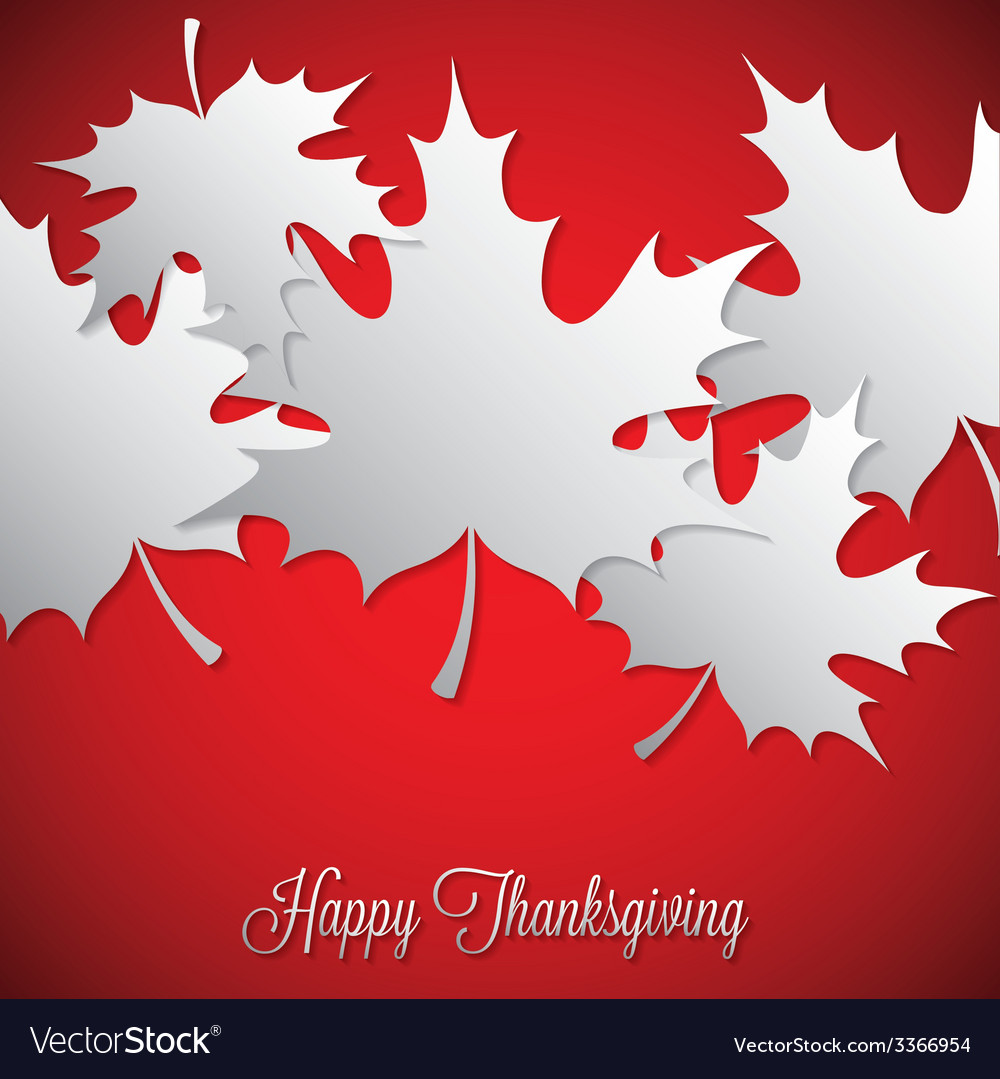 Maple leaf thanksgiving card in format vector | Price: 1 Credit (USD $1)