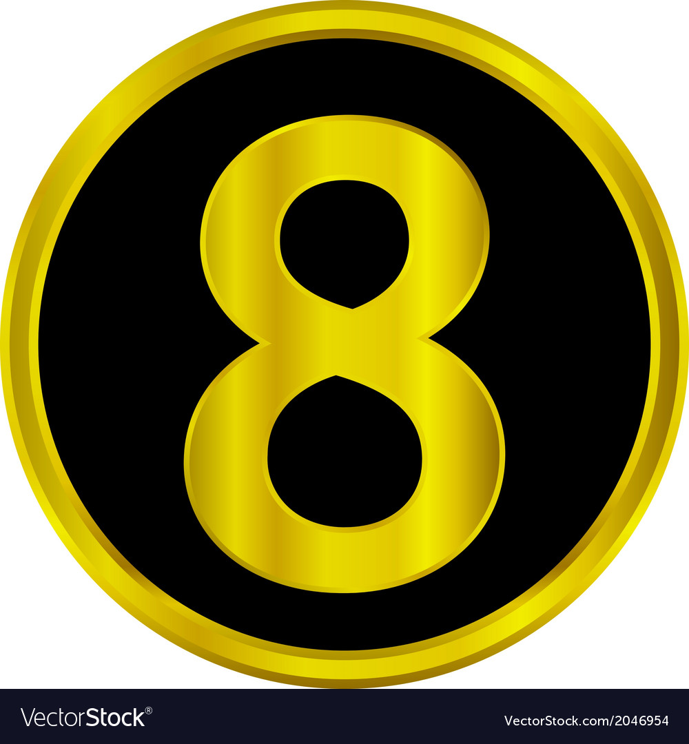 Number eight button vector | Price: 1 Credit (USD $1)