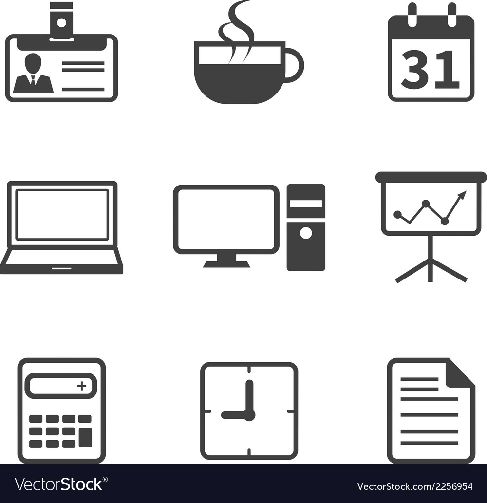Office and business icon vector | Price: 1 Credit (USD $1)