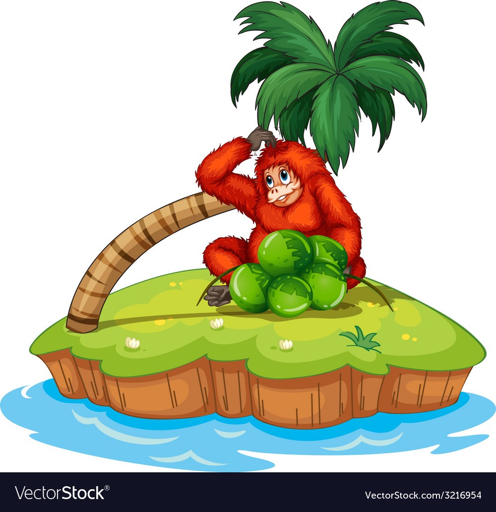 Orangutan vector | Price: 1 Credit (USD $1)