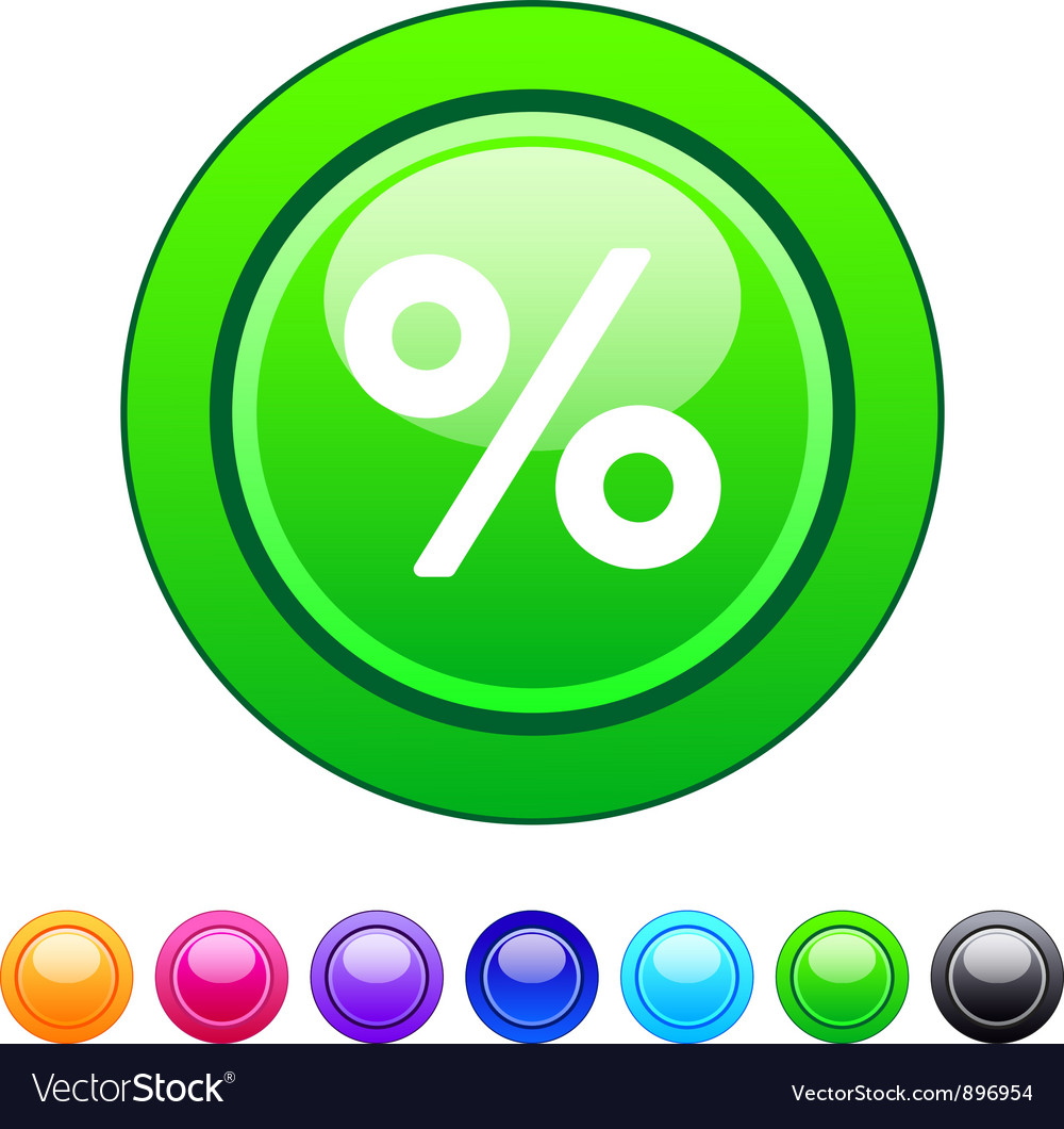 Percent circle button vector | Price: 1 Credit (USD $1)