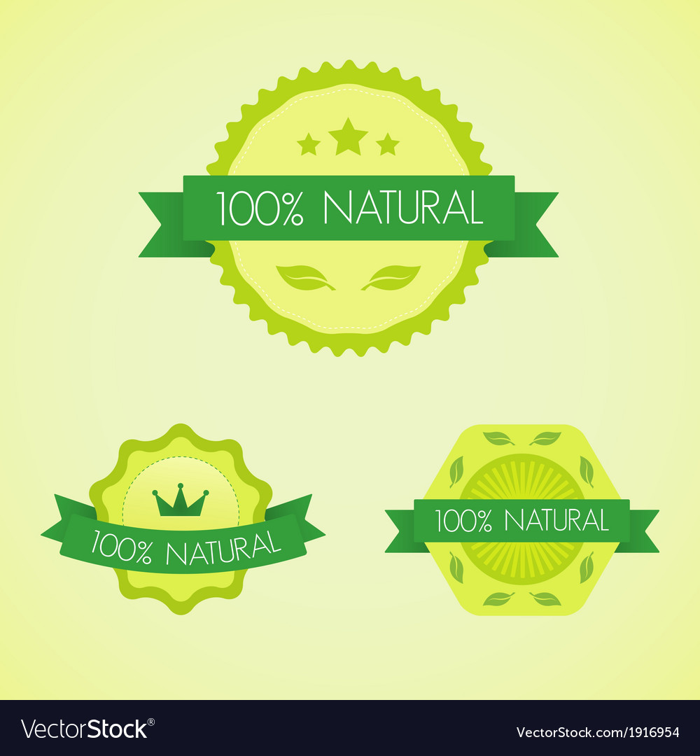 Set of organic badges and labels vector | Price: 1 Credit (USD $1)