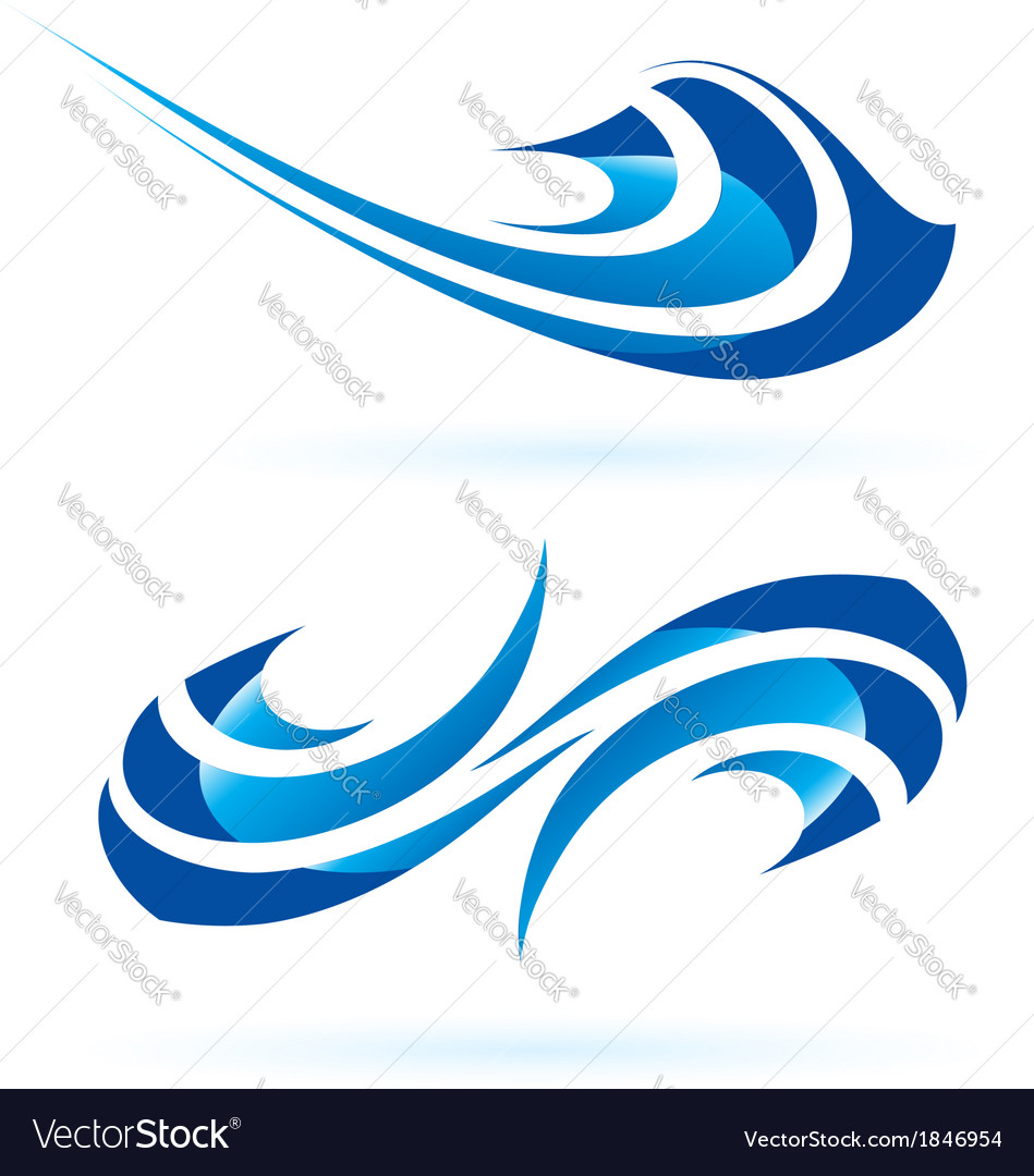Smooth abstract forms in blue vector | Price: 1 Credit (USD $1)