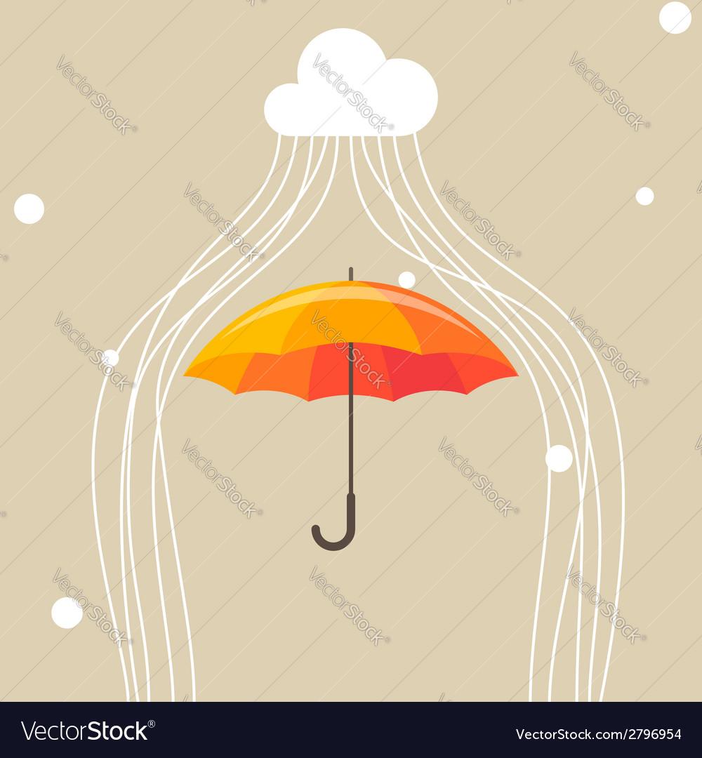 Umbrella and cloud vector | Price: 1 Credit (USD $1)