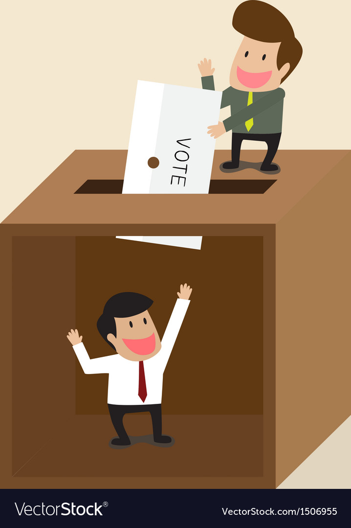 Businessman voting vector   Price: 1 Credit (USD $1)