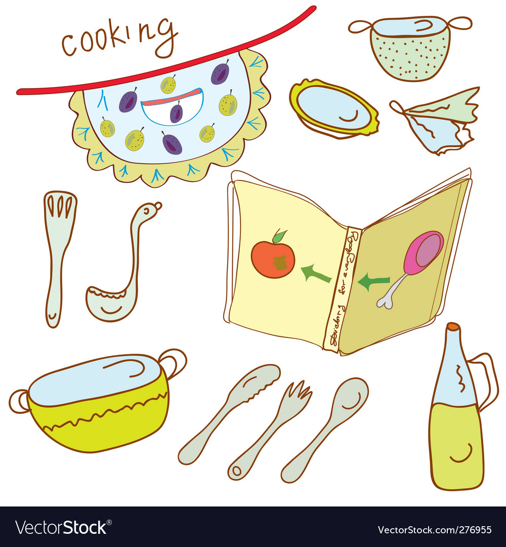 Cooking set vector | Price: 1 Credit (USD $1)