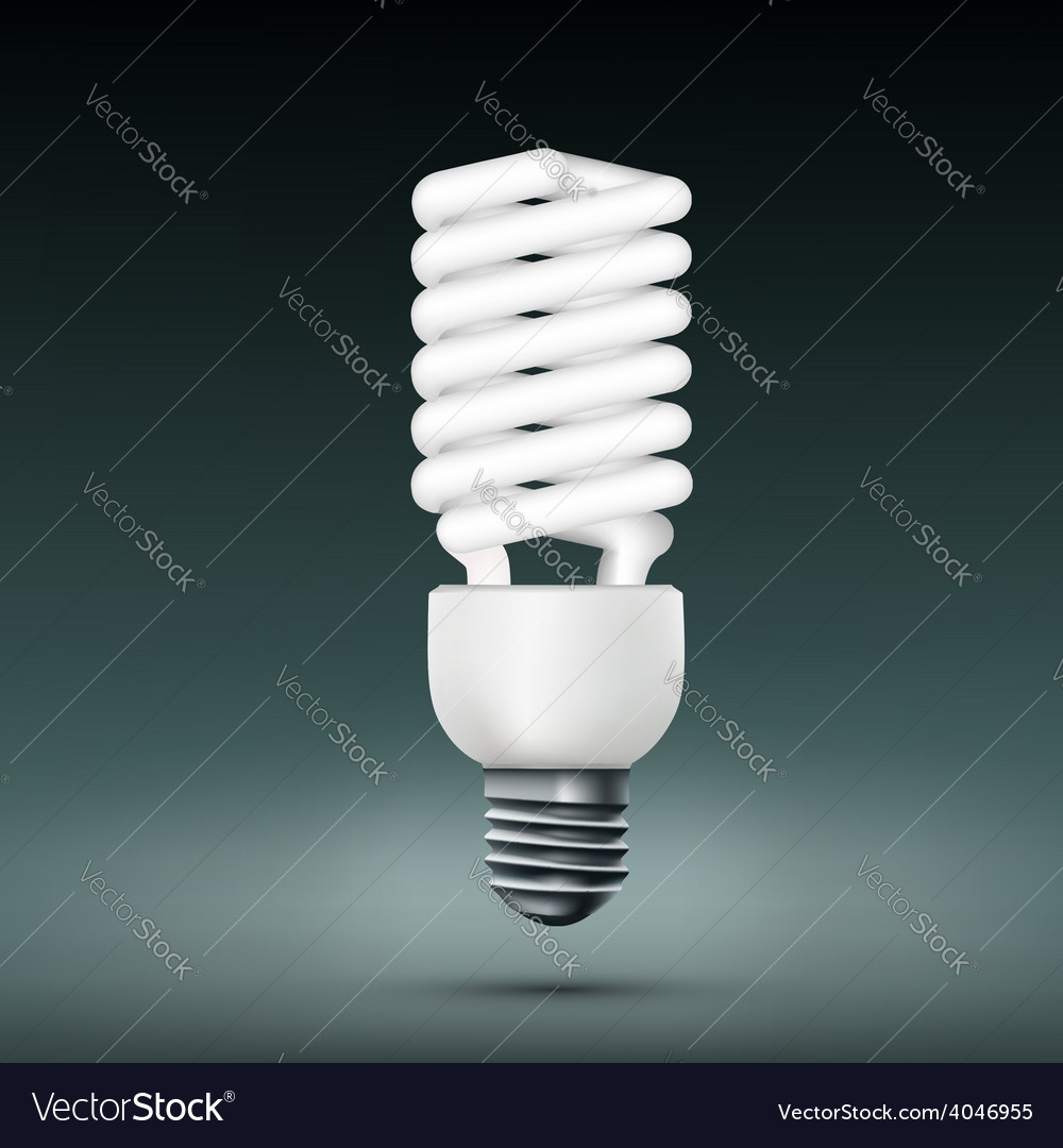 Energy saving lamp vector | Price: 1 Credit (USD $1)