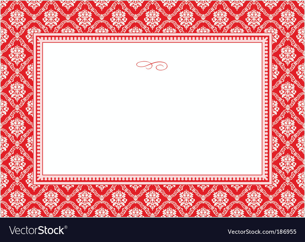Holiday damask pattern and frame vector | Price: 1 Credit (USD $1)