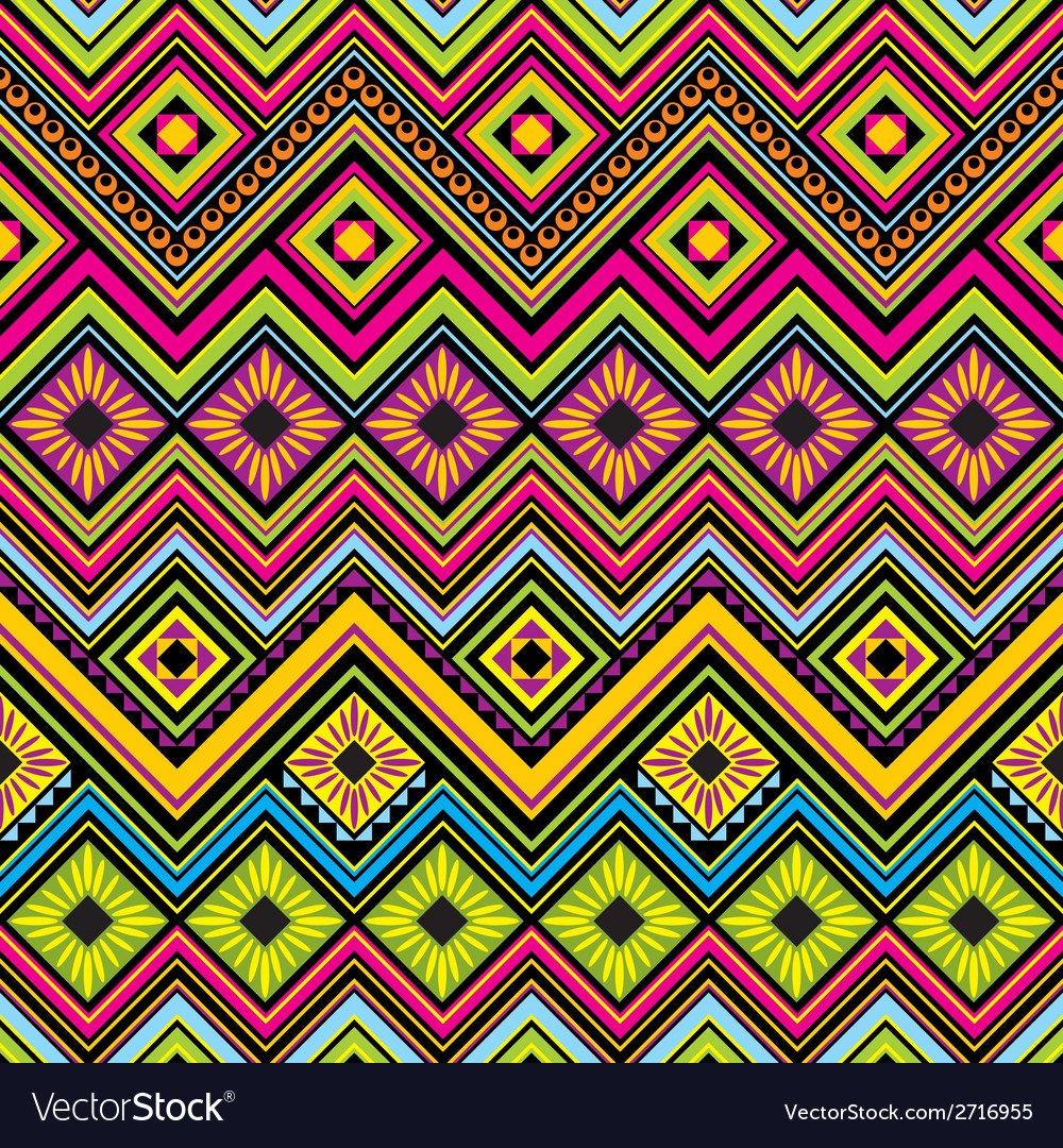 Mexican seamless zigzag background vector | Price: 1 Credit (USD $1)