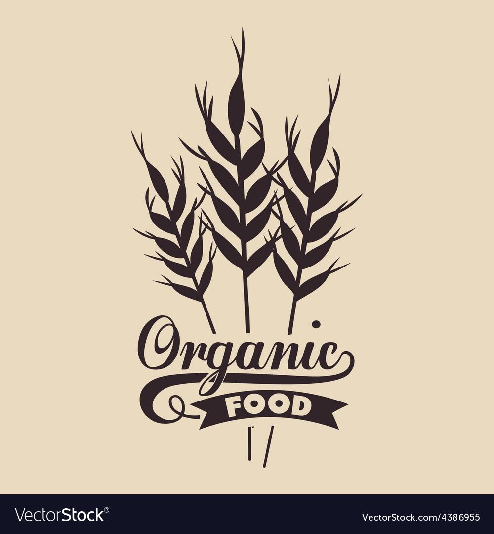 Organic food design vector | Price: 1 Credit (USD $1)