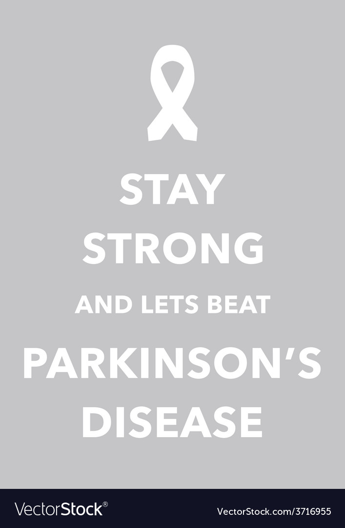 Parkinsons disease poster vector | Price: 1 Credit (USD $1)