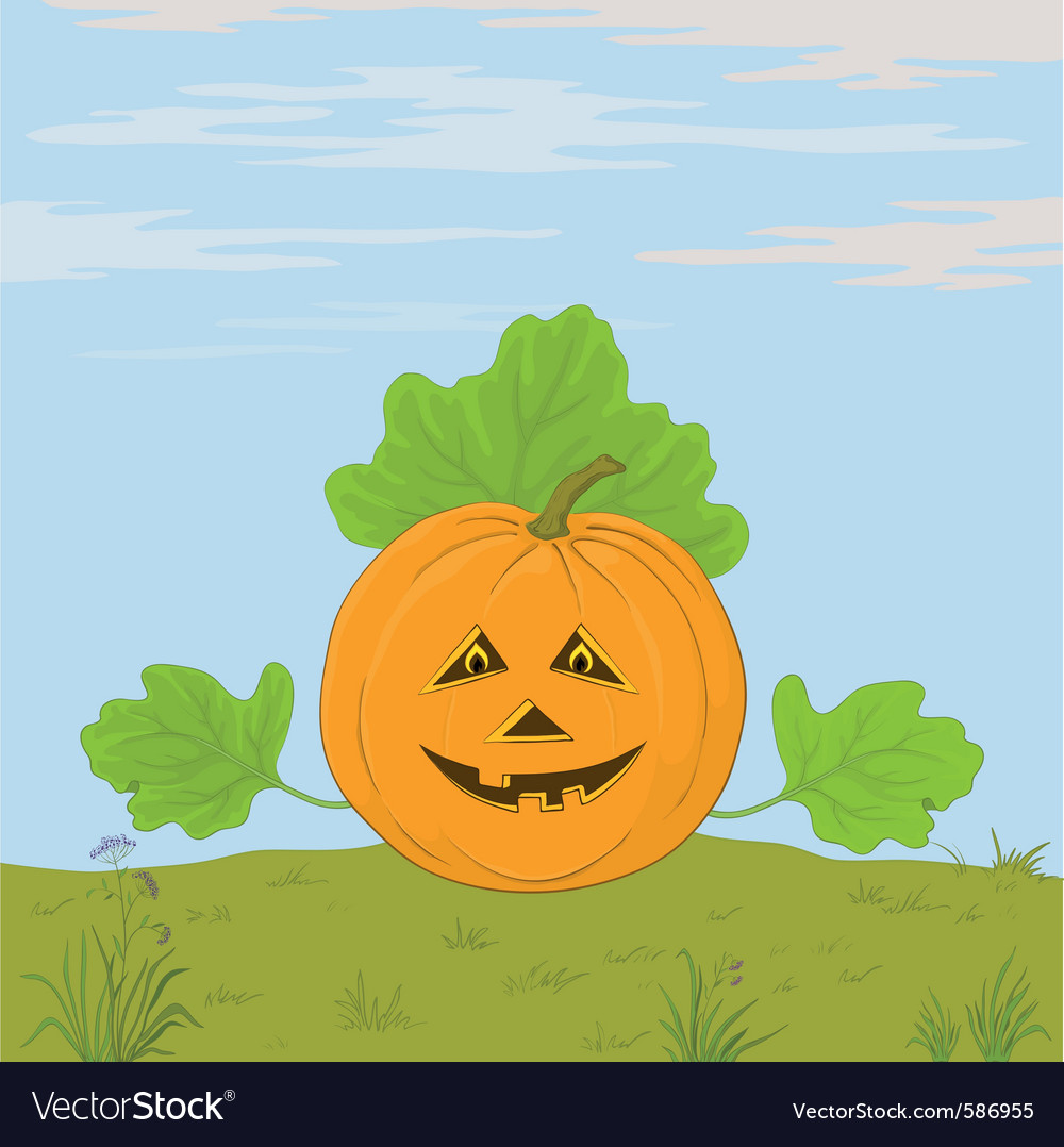 Pumpkin jack o lantern vector | Price: 1 Credit (USD $1)